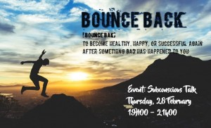 Subconscious Talk Group Event: Bounce Back